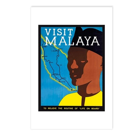 Malaya Travel Poster 2 Postcards (Package of 8)