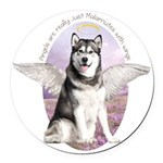 angelwithwings.png Round Car Magnet