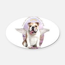 angelwithwings.png Oval Car Magnet