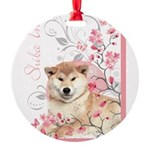 blossom.png Round Ornament