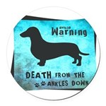 death.png Round Car Magnet