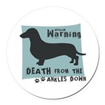 death4.png Round Car Magnet