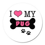 dogboneILOVEMY.png Round Car Magnet