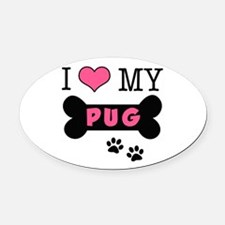dogboneILOVEMY.png Oval Car Magnet