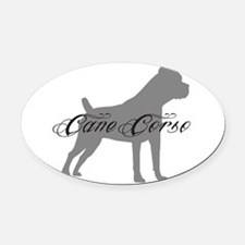 graysilhouette.png Oval Car Magnet