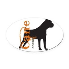 grungesilhouette.png Oval Car Magnet