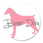 diamonddiva.png Round Car Magnet
