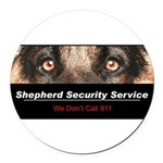 security.png Round Car Magnet