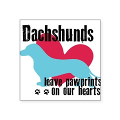 "pawprints.png Square Sticker 3"" x 3"""