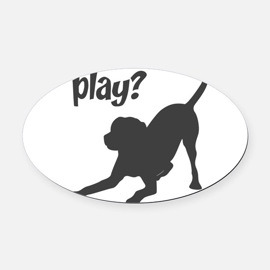 play.png Oval Car Magnet