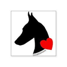 """heartsilhouette.png Square Sticker 3"""" x 3"""""""