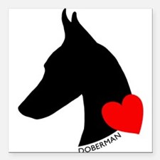 """heartsilhouette.png Square Car Magnet 3"""" x 3"""""""