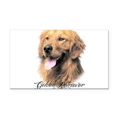 scriptgolden.png Rectangle Car Magnet