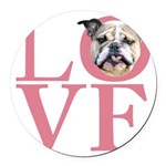 love.png Round Car Magnet