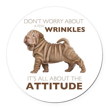 attitude.png Round Car Magnet