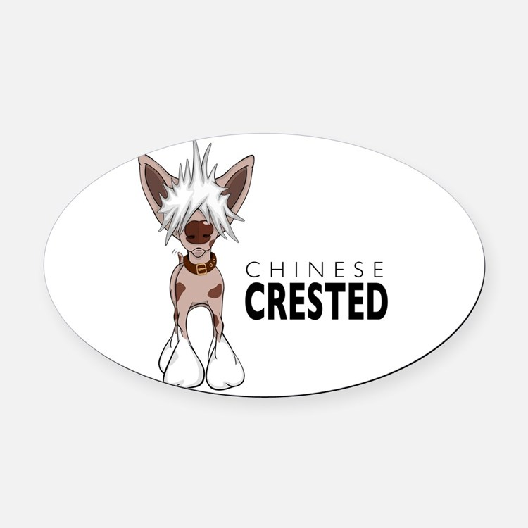 cartoon.png Oval Car Magnet