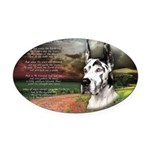 godmadedogs3.png Oval Car Magnet