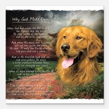 """godmadedogs.png Square Car Magnet 3"""" x 3"""""""