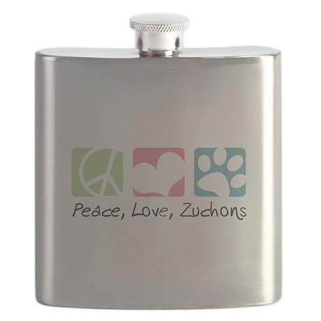 Peace, Love, Zuchons Flask