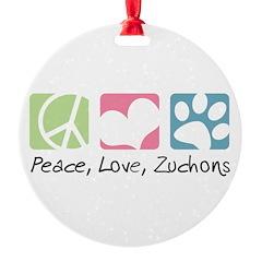 Peace, Love, Zuchons Ornament