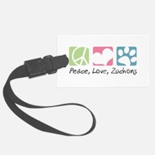 Peace, Love, Zuchons Luggage Tag