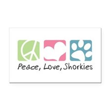 peacedogs.png Rectangle Car Magnet