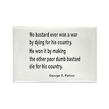 Patton on Winning a War Rectangle Magnet