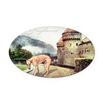 castle.png Oval Car Magnet