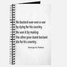 Patton on Winning a War Journal