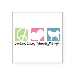 peacedogs.png Square Sticker 3