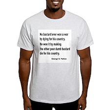 Patton on Winning a War (Front) Ash Grey T-Shirt