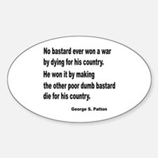 Patton on Winning a War Oval Decal