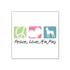 """peacedogs.png Square Sticker 3"""" x 3"""""""