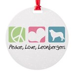 peacedogs.png Round Ornament
