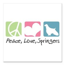 "peacedogs.png Square Car Magnet 3"" x 3"""