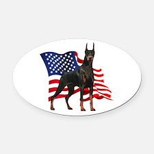 flag.png Oval Car Magnet