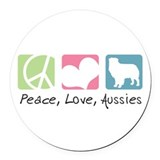 Australian shepherd Round Car Magnets