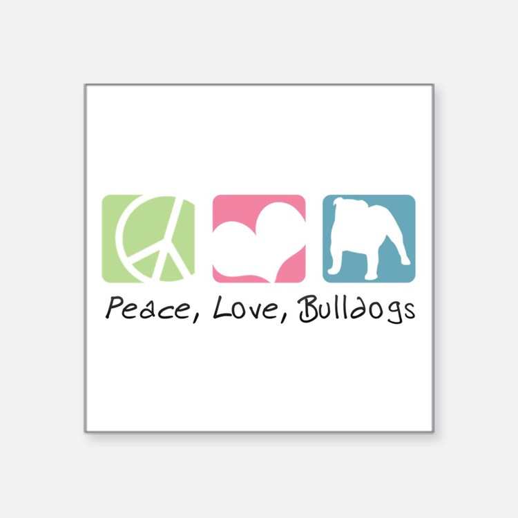 "peacedogs.png Square Sticker 3"" x 3"""