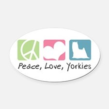 peacedogs.png Oval Car Magnet