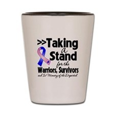 Stand Male Breast Cancer Shot Glass