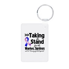 Stand Male Breast Cancer Keychains