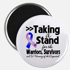 """Stand Male Breast Cancer 2.25"""" Magnet (100 pack)"""