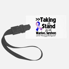 Stand Male Breast Cancer Luggage Tag