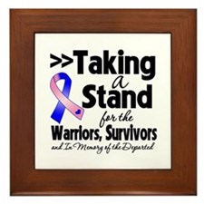 Stand Male Breast Cancer Framed Tile