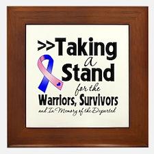 Stand Male Breast Cancer Framed Tile