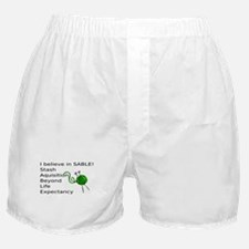 Knitting:I Believe In SABLE Boxer Shorts