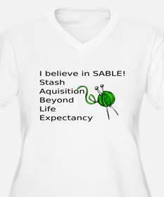 Knitting:I Believe In SABLE T-Shirt
