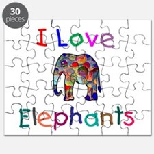 I Love Elephants Puzzle