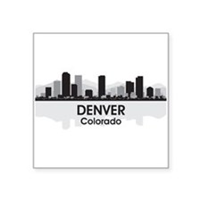 "Denver Skyline Square Sticker 3"" x 3"""