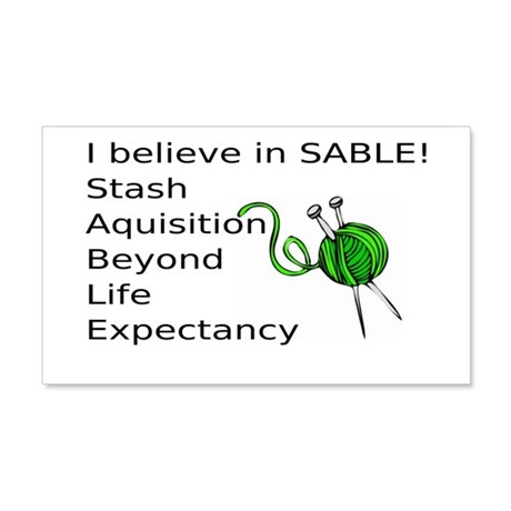 Knitting:I Believe In SABLE 20x12 Wall Decal